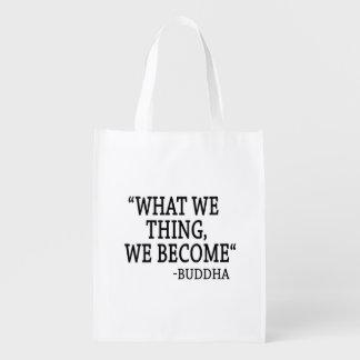 Was wir Sache wir werden Wiederverwendbare Einkaufstasche