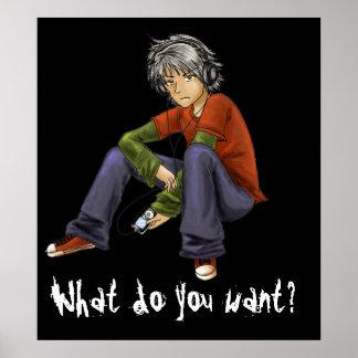 Was wollen Sie? Plakat