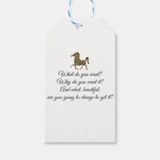 Was wollen Sie Unicorn? Geschenkanhänger
