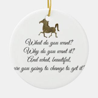 Was wollen Sie Unicorn? Keramik Ornament