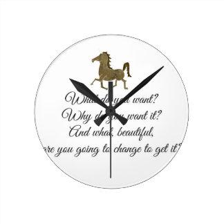 Was wollen Sie Unicorn? Runde Wanduhr