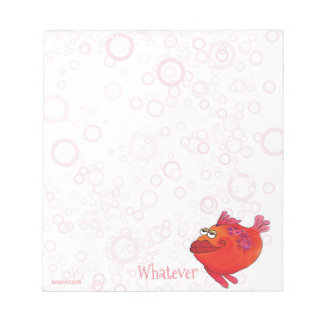 Was wunderliche Fisch-Kunst im Rot und im Rosa Notizblock