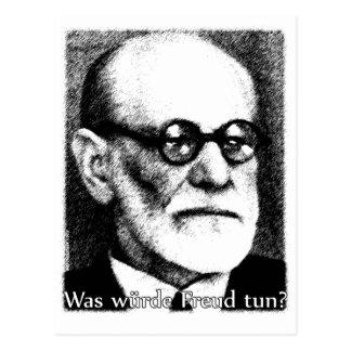 Was würde Freud tun? Postkarte