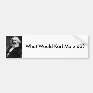 Was würde Karl Marx tun? Autoaufkleber