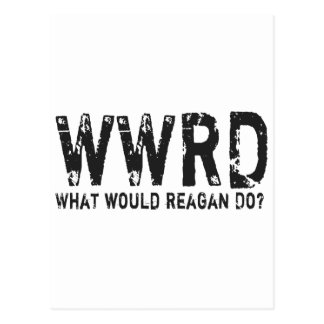 Was würde Reagan tun? Postkarte