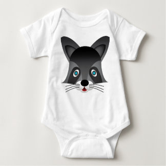 Waschbär - Baby-Jersey-Bodysuit Baby Strampler