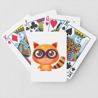 Waschbär-Baby-Tier in der Girly süßen Art Bicycle Spielkarten