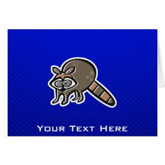 Waschbär; Blau Karte