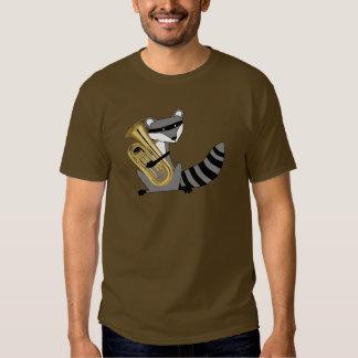 Waschbär, der den Euphonium spielt Shirt