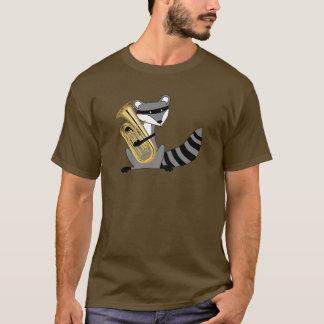 Waschbär, der den Euphonium spielt T-Shirt