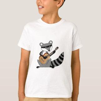 Waschbär, der die Gitarre spielt T-Shirt