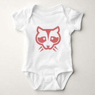 Waschbär-Gesicht Babygrow Shirt