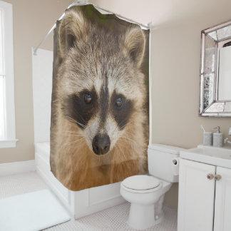 Waschbär-Gesichts-Duschvorhang Duschvorhang