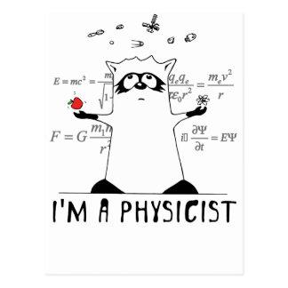 Waschbär: Ich bin ein Physiker Postkarte