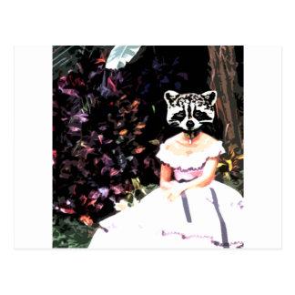 Waschbär-Kleid Postkarte