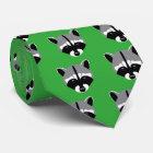 Waschbär mit traurigen Augen Krawatte