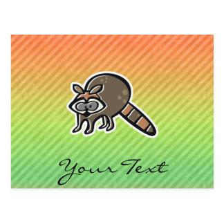 Waschbär Postkarte