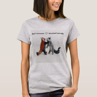 Waschbär und roter Panda T-Shirt