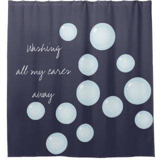 Waschen Sie Ihre ganze Sorgfalt weg sprudelt Duschvorhang