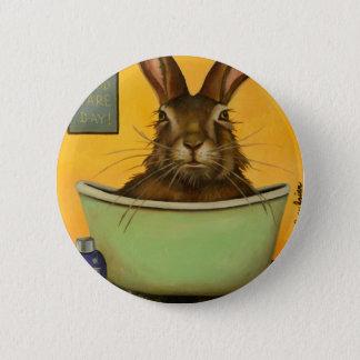 Waschen Sie Ihre Hasen Runder Button 5,1 Cm