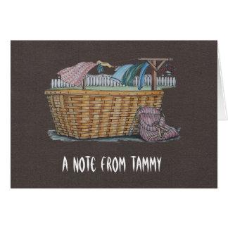 Wäscherei auf Wäscheleine Karte