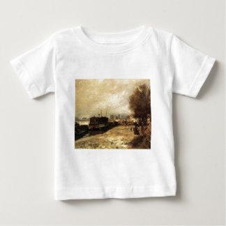 Wäscherei-Boot durch die Banken der Seines, nahe Hemd