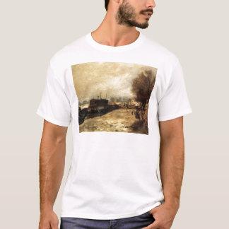 Wäscherei-Boot durch die Banken der Seines, nahe T-Shirt