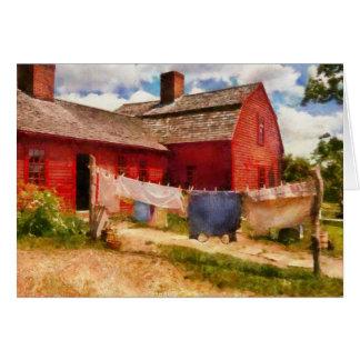 Wäscherei - die Wäscheleine Karte