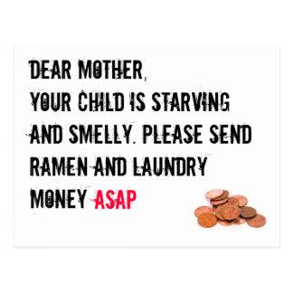Wäscherei-Geld-Karte Postkarte