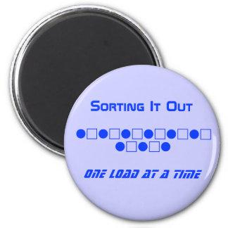 Wäscherei-Magnet - ihn heraus sortierend Kühlschrankmagnet