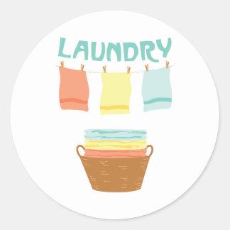 Wäscherei Runder Aufkleber