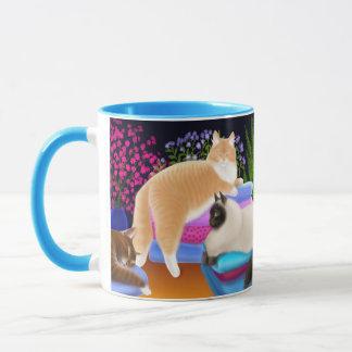 Wäscherei-Tageskatzen-Tasse Tasse