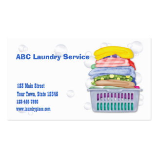 Wäscherei-Visitenkarte