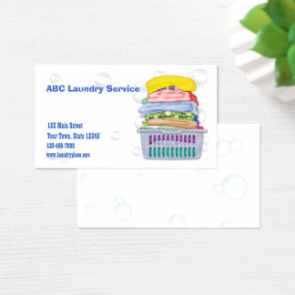 Wäscherei-Visitenkarte Visitenkarte