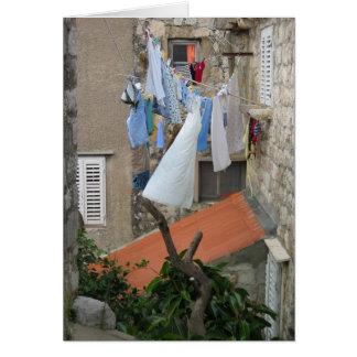 Wäschereitag in Dubrovnik Karte