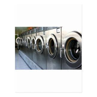Waschmaschine Postkarte