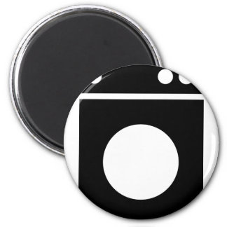 Waschmaschineikone Runder Magnet 5,1 Cm