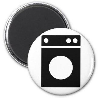 Waschmaschineikone Runder Magnet 5,7 Cm