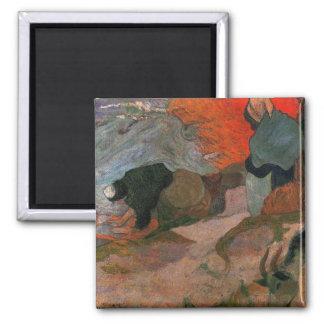 Washerwomen durch Paul Gauguin Quadratischer Magnet