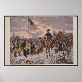Washington an der Tal-Schmiede durch Edward Percy Poster