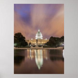 Washington DC, Hauptstadts-Gebäude Plakate