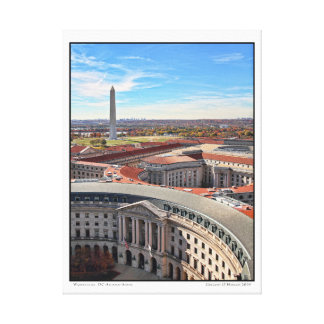 Washington, DC-Herbst-Antenne Leinwanddruck