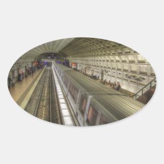 Washington DC-Metro-Bahnstation Ovaler Aufkleber