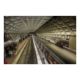 Washington DC-Metro-Bahnstation Poster