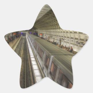 Washington DC-Metro-Bahnstation Stern-Aufkleber