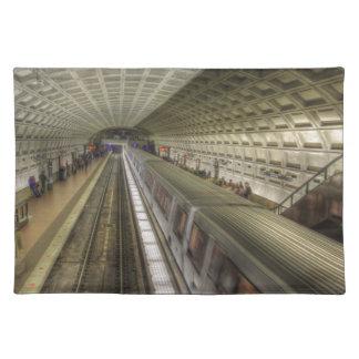 Washington DC-Metro-Bahnstation Stofftischset
