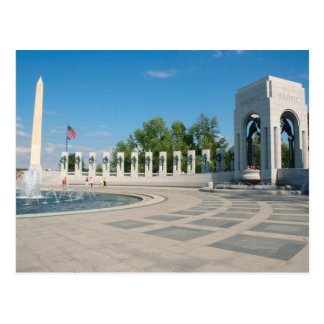 Washington, DC, nationales WWII Denkmal Postkarte