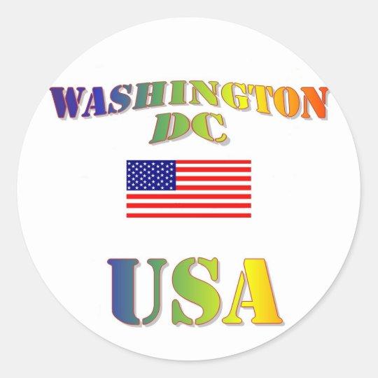 Washington DC Runder Aufkleber