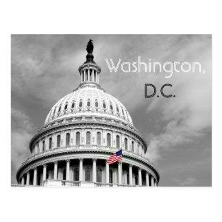 Washington, DC-Schwarzweiss-Flaggen-Postkarte Postkarte