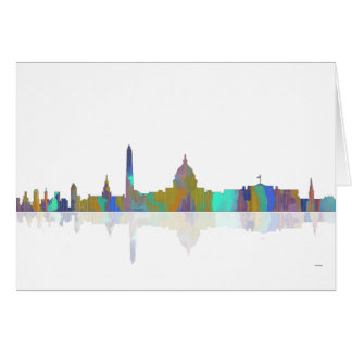 Washington, DC-Skyline Karte